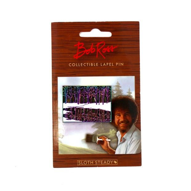 The Bob Ross Rainbow Forest Pin