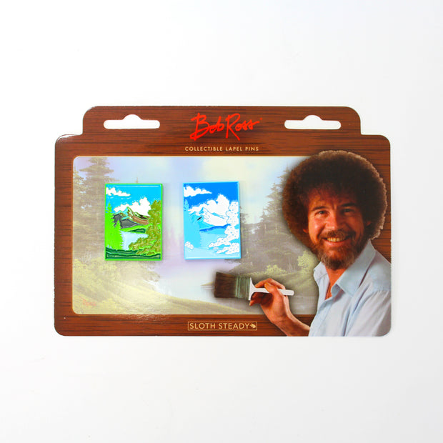 The Bob Ross Two Seasons Pin Set