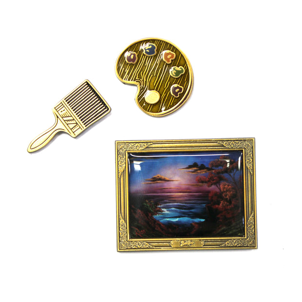 The Bob Ross Painter's Pin Set
