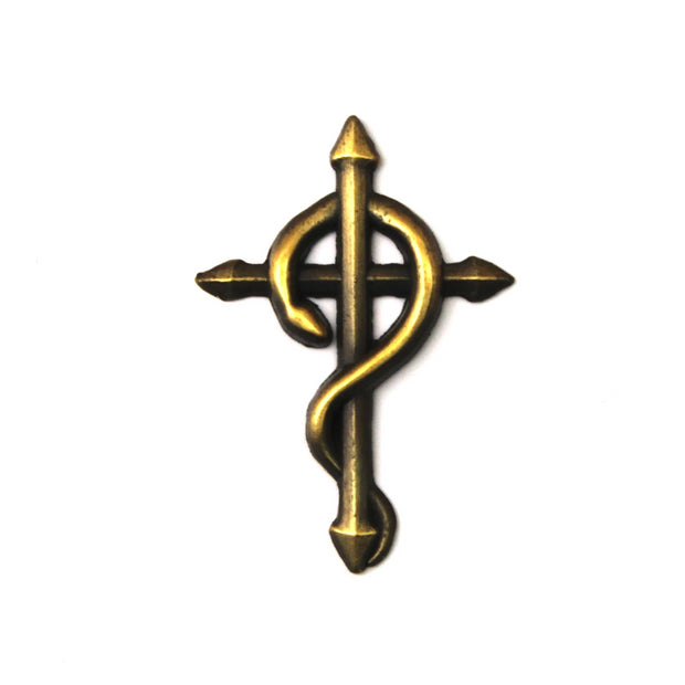 The Caduceus Cross Pin