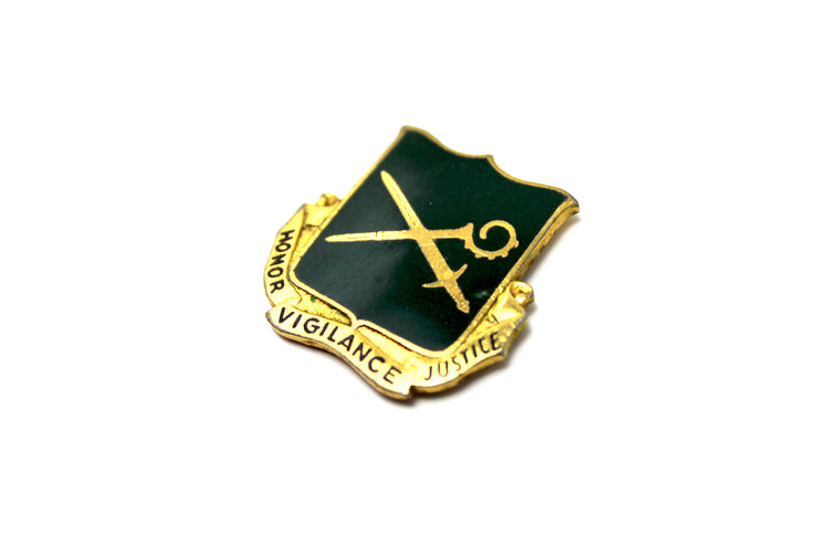 The 'Honor, Vigilance Justice' Vintage Pin