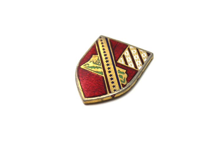 The 'Striped Crest' Vintage Pin