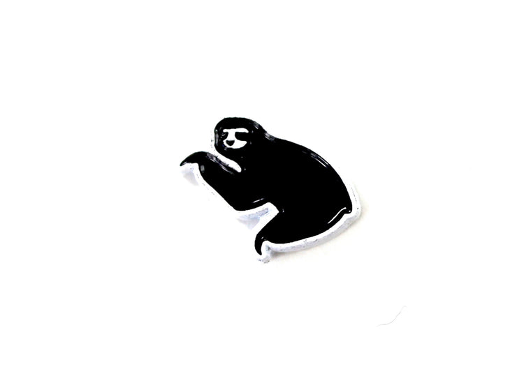The Black on White Mini Sloth Pin
