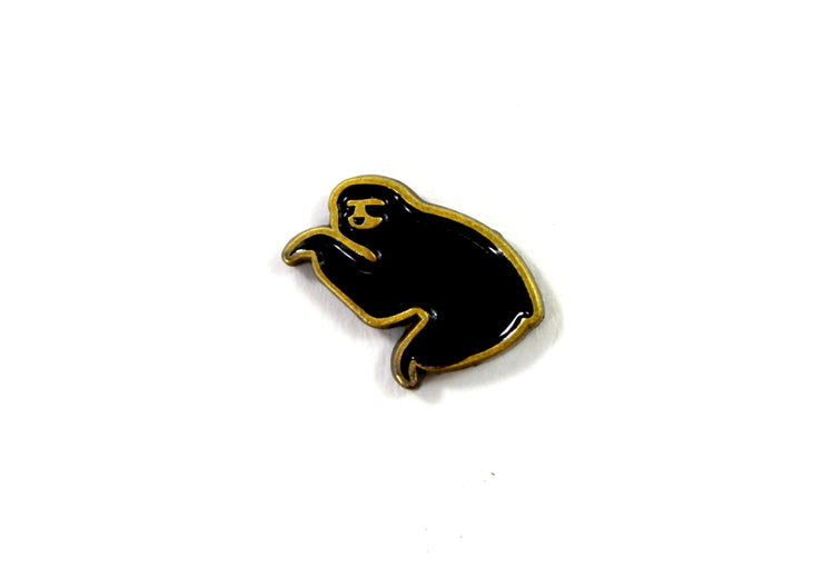 The Black on Gold Mini Sloth Pin