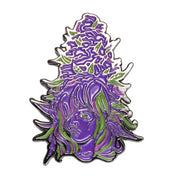 The Bud Babe Pin in Purple