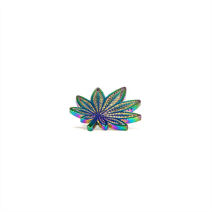 The Pot Leaf Pin Rainbow