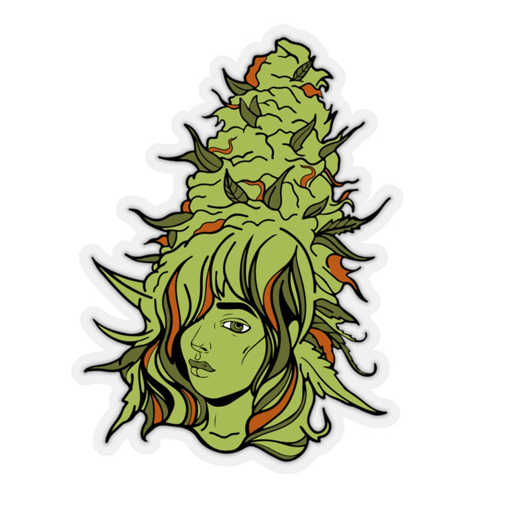 The Oversized 'Bud Babe' Vinyl Sticker