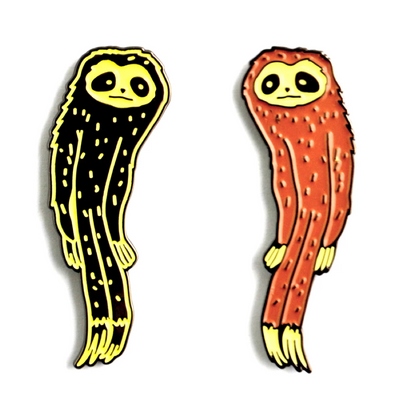 The Slender Sloth Pin Set