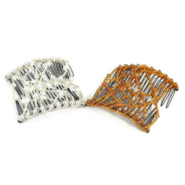 Beaded Hair Comb 2pc Set