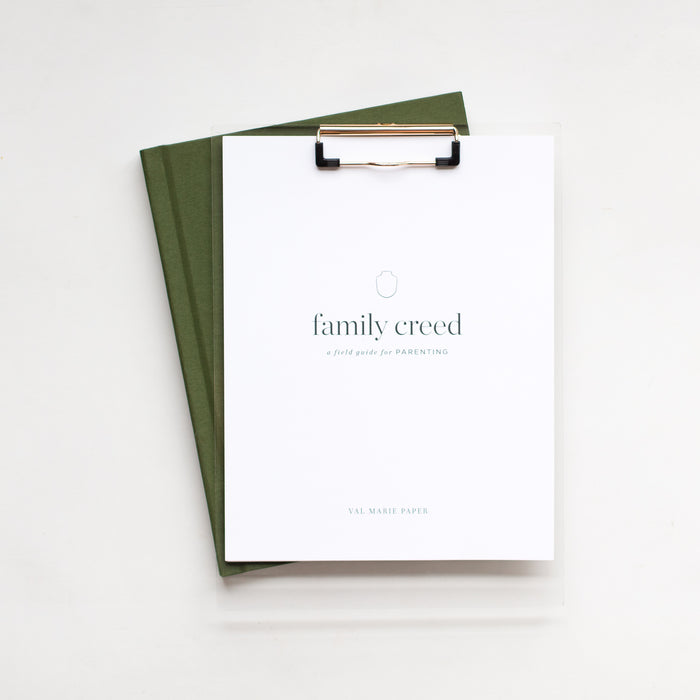 Family Creed by Val Marie Paper | prayer journal, intentional living, christian mom, free parenting resources, christian home, family values, family mission statement, family rules, motherhood