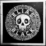 ELIAS BLACK - Skull Coin 12x12 Screen-Print (Limited Edition)