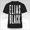 Elias Black Text Shirt Front