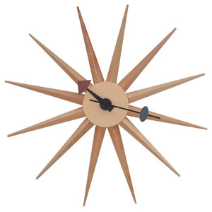 Natural Sunburst Wall Clock