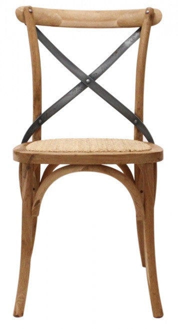 Silla Crossback Natural/Plomo
