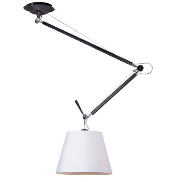 Tolomeo Mega Techo Simple Negro