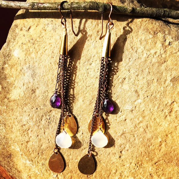 Amethyst and Chalcedony Adornment