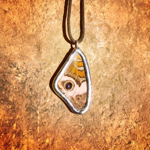 Buckeye Butterfly Necklace