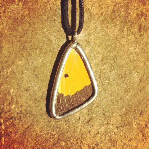 Sulphur Butterfly Necklace