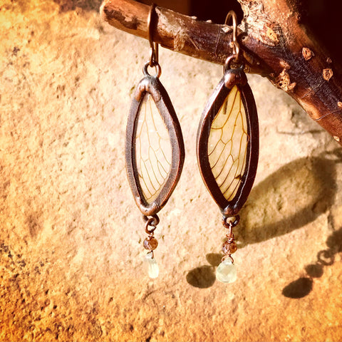 Copper Cicada Earrings