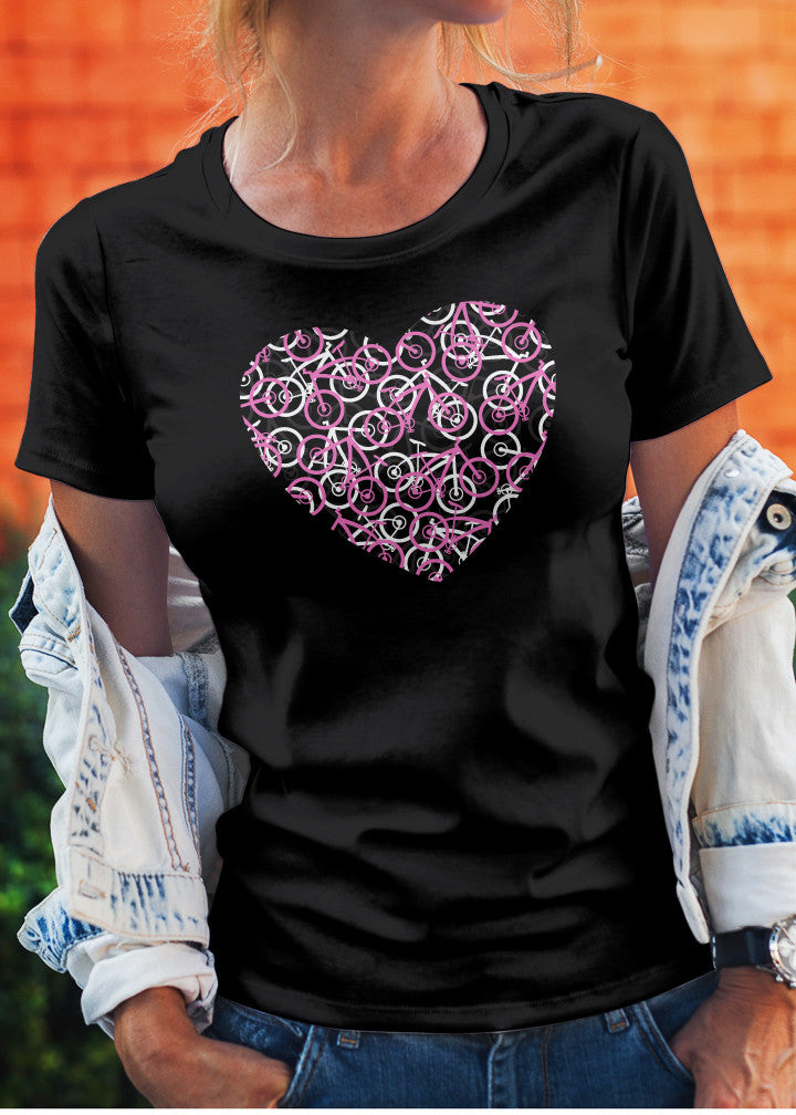 Bike Heart Tee Shirt