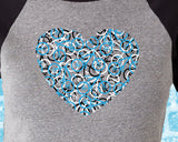 Bike Heart Baseball Tee