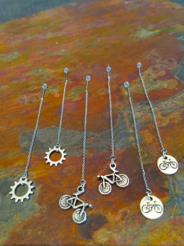 Bicycle Ear Thread Earrings