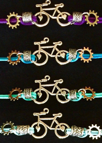 All Geared Up Bicycle Friendship Bracelets