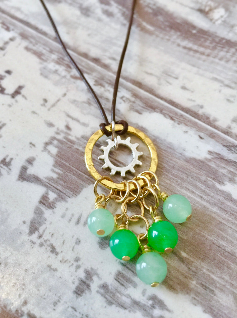 pendant necklace products sales image steampunk gear product rotatable wendy
