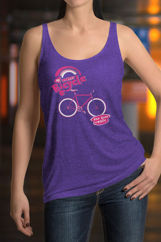 My Pretty Bicycle Racerback Tank Top