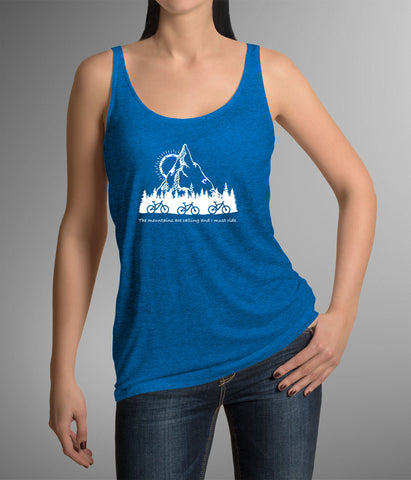 The Mountains Are Calling And I Must Ride Women's Racerback Tank