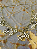 Bicycle Statement Choker Necklace