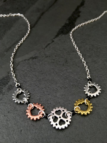 Big Heart Chainring Choker Necklace