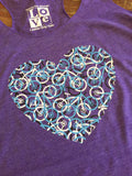Bike Heart Racerback Tank Top