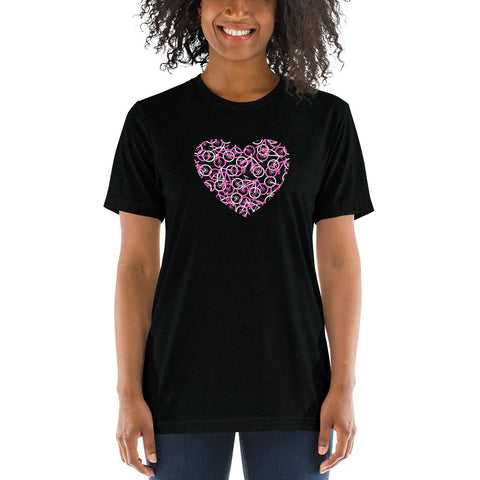 """The Bike Heart"" Women's Bicycle Tee Shirt - Pink Bikes / Bike Tee Shirt, Bicycle T Shirt, Bike T Shirt, Bicycle Tee Shirt, Mountain Bike, Bicycle Gifts"