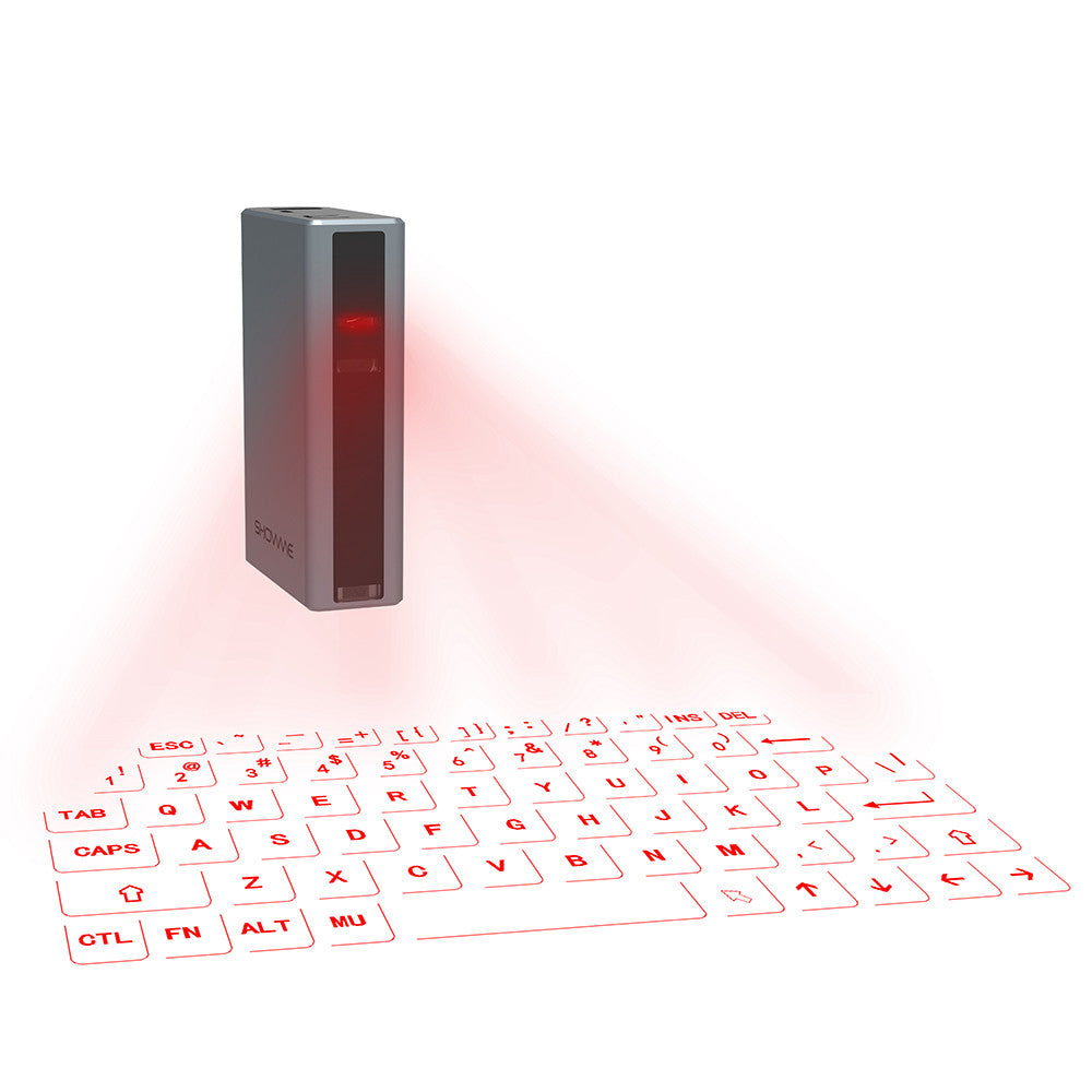 Laser keyboard with Power Bank for your smart phones