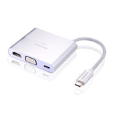 USB C Adapter Hub to HDMI VGA USB3.0 for TYPE-C Port Devices for Huawei Tablet Ultra Thin Laptop