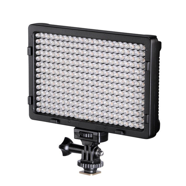 TOLIFO Photo Studio 308B LED Ultra Bright Dimmable On Camera Video Light for Canon,Nikon,Pentax,Panasonic,Sony,Samsung,Olympus and Other Digital SLR Cameras(PT-308B)