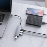 USB 3.0 Hub Ultra Slim 4-Port USB Hub in Aluminum Compatible with Mac Pro/Mini, Microsoft Surface Pro, Dell XPS 15 Xbox ONE