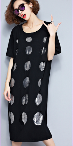 Contemporary Graphic Dot S/S Dress