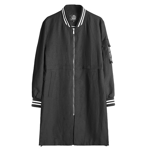 Long Bomber Jacket with Lining