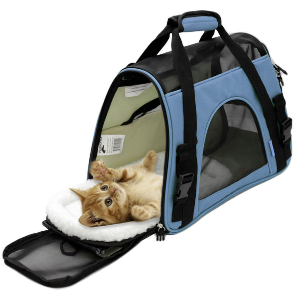 11518e5d6d27 Soft Sided Cat / Dog Pet Carrier Travel Tote Bag Airline Approved –  AskFindShip