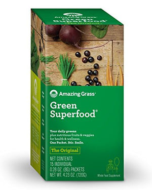 Зеленый коктейль-порошок Green Superfood Organic Powder with Wheat Grass and Greens