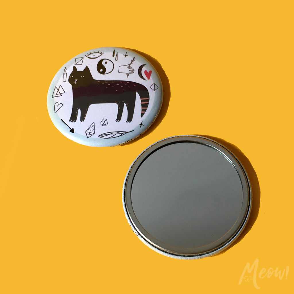 Black Cat Pocket Mirror