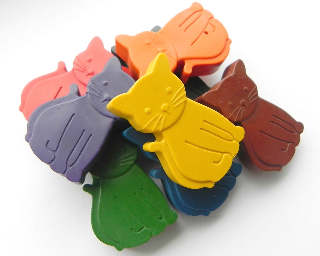 Colourful Cat Crayons