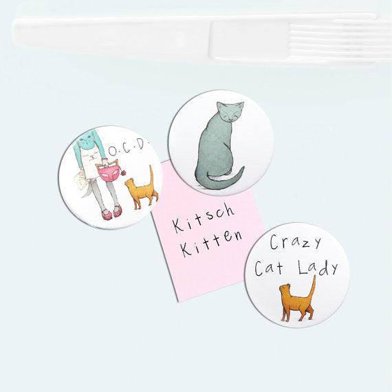 Cat Lady Fridge Magnets