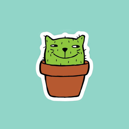Catcus Cat Sticker