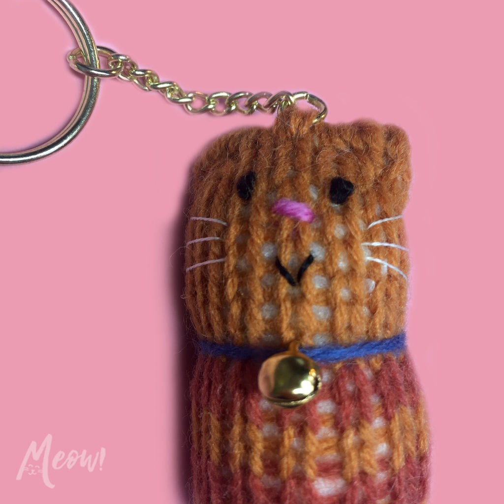 Fat Cat Keyring - Ginger