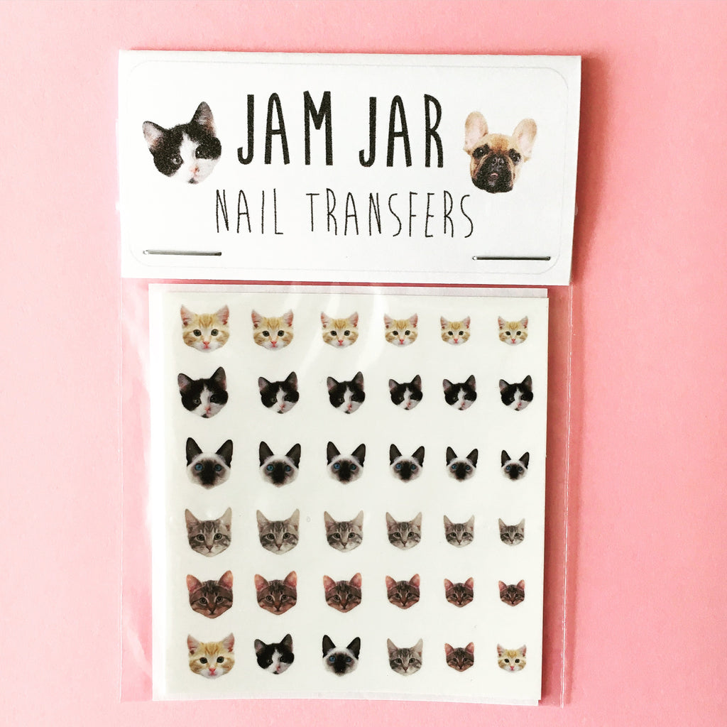 Adorable Cat Nail Transfers