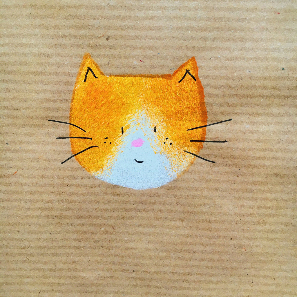 Mila Cat Handprinted Gift Wrap