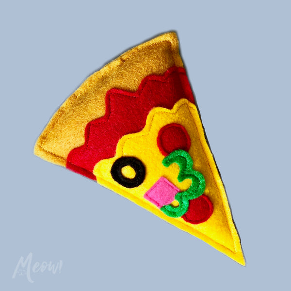 Pizza slice organic catnip toy